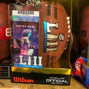 Other - Official super bowl football with ticket